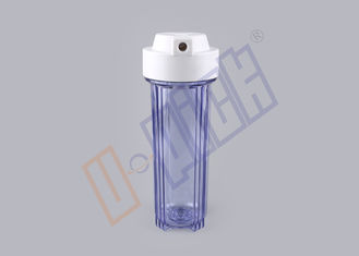 China 1/4 Connector Granulated Activated Carbon Filter / Transparent Water Filter Housing supplier