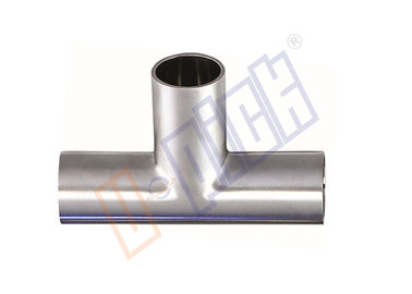 China T Shape Welded Steel Pipe Fittings 304 SS Long Tee With Sanitary Grade supplier