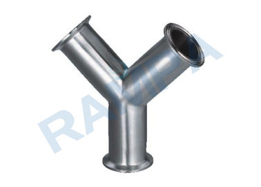 China Standard SUS 304 Stainless Steel Pipe Fittings Y Quick Loading Tee supplier