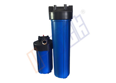 China 1.5 Inch Big Blue Water Filter Housing PP And Brass Inlet Outlet distributor