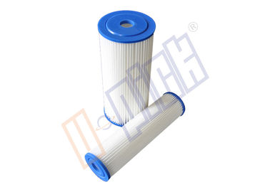 China Standard and big blue PE pleated filter cartridge used for swimming pool distributor
